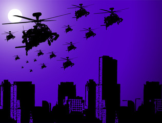 Keuken foto achterwand Militair War Operation at Night