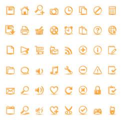 Icônes Web (orange)