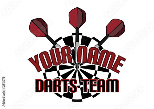 darts team logo stock image and royalty free vector files on