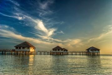 resort build over the water