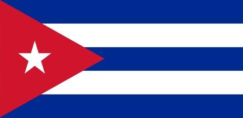 Flag of Cuba. Illustration over white background