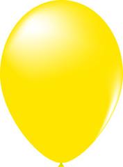 Gelber Luftballoon