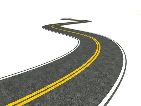 Long winding road illustration