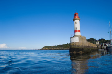 Photo sur Aluminium Phare Lighthouse and breakwater