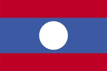 Laos national flag. Illustration on white background