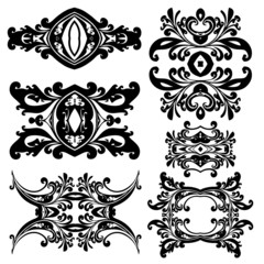 Dekorative Elemente im Vektorformat