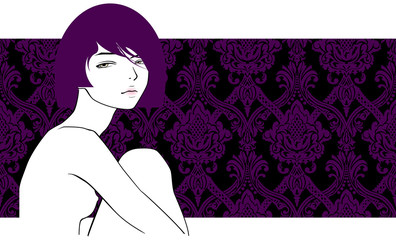 girl with violet hair