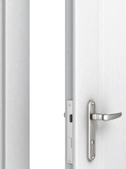 opened door with a modern locking mechanism