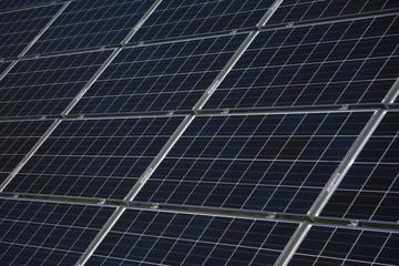 Close Solar Panels
