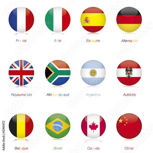 """Drapeau Rond drapeaux monde rond"""" photo libre de droits sur la banque d'images"""