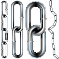 Chain links - seamless vector illustration