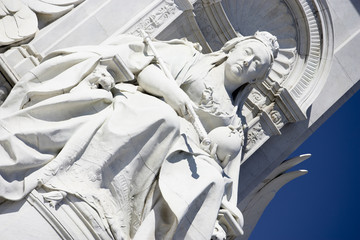 Victoria Memorial In The Queen's Gardens, London, England