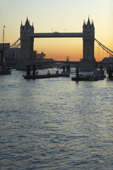 Tower Bridge At Sunset, London, England