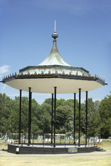 Gazebo And Deck Chairs In Hyde Park, London, England