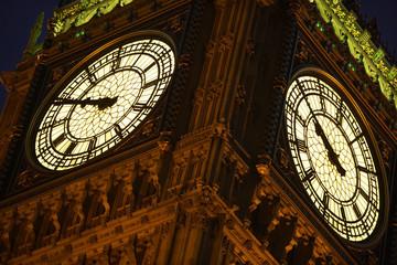Big Ben Illuminated At Night, London, England