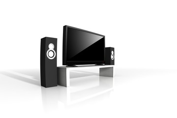 isolated home theater / high definition television with speakers