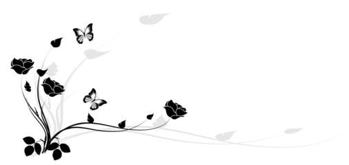 coin de roses noires