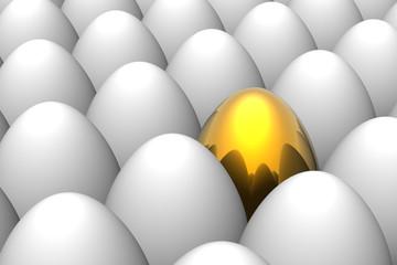 Unique golden easter egg