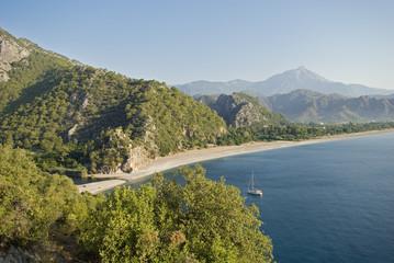 Aerial view of Cirali Beach, Antalya Turkey.