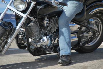 Motociclista - lago