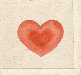Fototapeta czerwone serce obraz