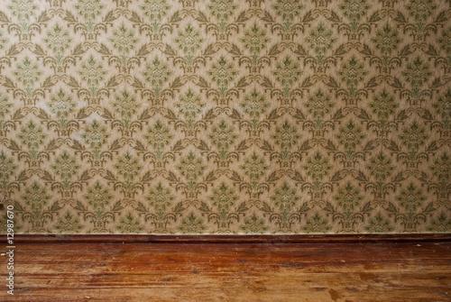 alte tapete und dielen stockfotos und lizenzfreie bilder auf bild 12987670. Black Bedroom Furniture Sets. Home Design Ideas