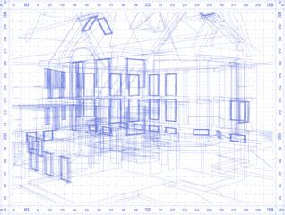 architecture blueprint: - vector background