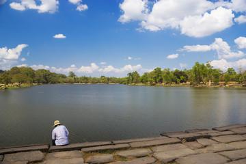 Fototapete - The Moat of Angkor Wat