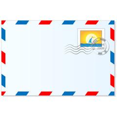 Briefumschlag und Briefmarke