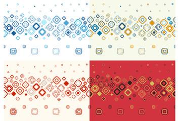 Set of seamless stylish backgrounds.Vector illustration.