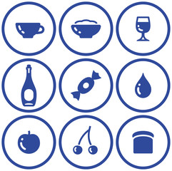 Icon set– food and drink