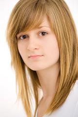 Closeup portrait of teen girl