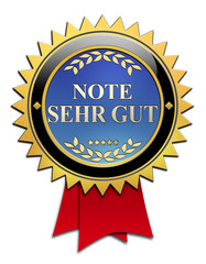 Button Note sehr gut