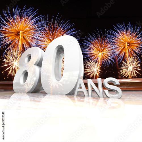 Dessin gateau anniversaire 80 ans