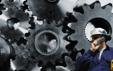 Wall Mural - cogs, gears and engineering idea