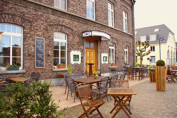 Historic german outdoor restaurant, germany, europe