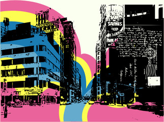 Abstract CITY Print Design Artwork