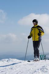 Mountain ski rider