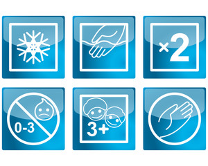 Set of various pictograms