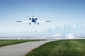 Wall Mural - Landing airplane