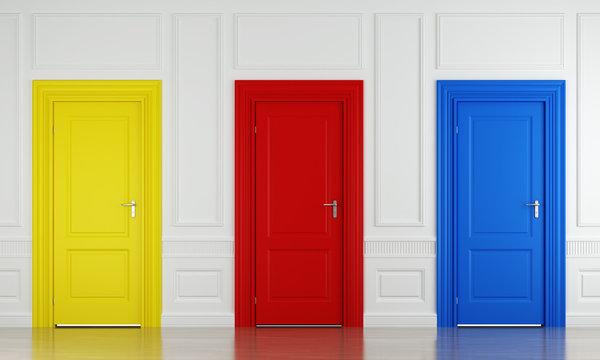 three color doors