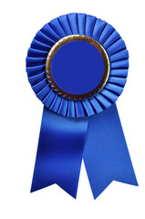 Blue Ribbon Award (with clipping path)