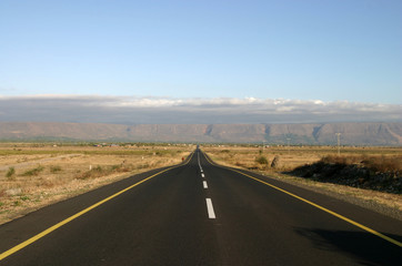 Fototapeten Route 66 endless road