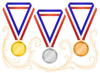 Medals-6 (isolated on white)