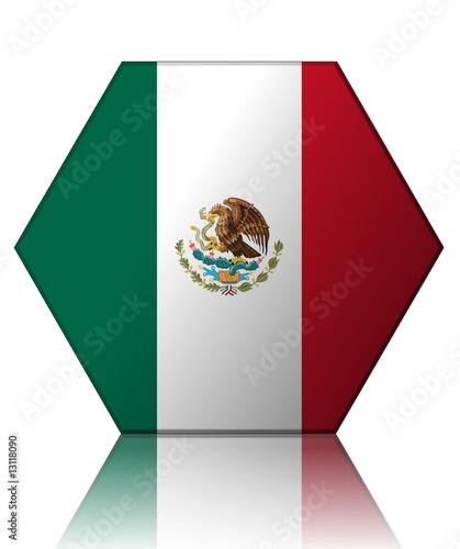Mexique Drapeau Hexagone Mexico Flag Stock Photo And Royalty Free