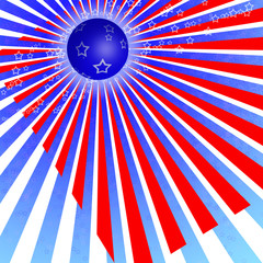 USA flag abstract design