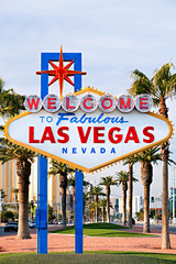 Foto auf AluDibond Las Vegas welcome to Las Vegas sign