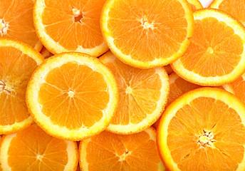 Orange fruit slices