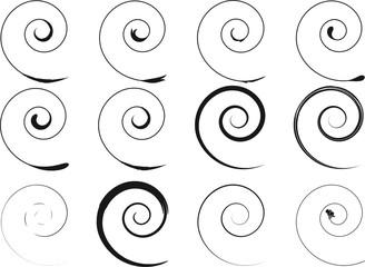 Printed roller blinds Spiral Floral schwarze Spirale