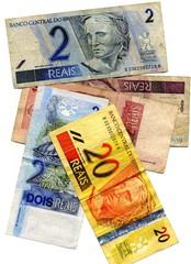 Argent Brésil. Billet de banque brésiliens.  Reals.